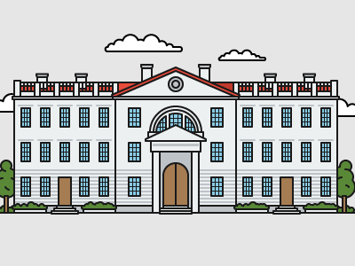 British style university №3 color art illustrator illustration house education university building flat outline