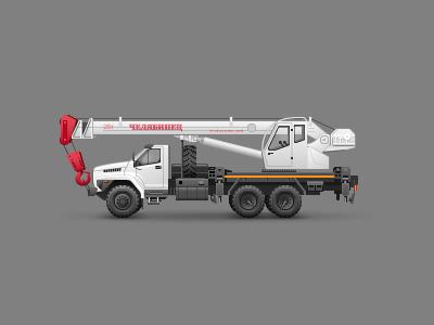 Crane truck truck crane icon icons illustrator vector illustration