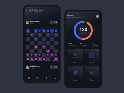 Chess App ui concept clean chess