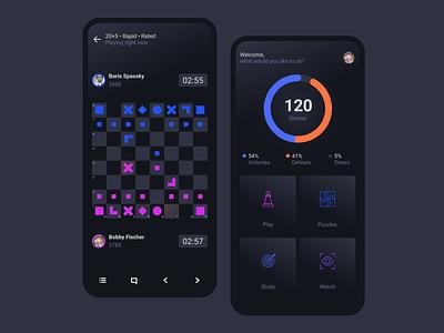 Chess App ui concept clean chess