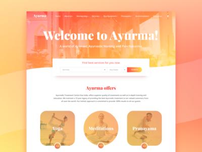 Yoga! clean yoga gradient search page concept