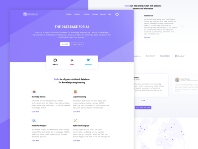 Landing page For Hyper-Relational Database ui clear concept data landing page