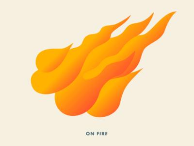 On Fire fire illustration