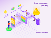 Financial Isometric Illustration process flow process stepbybstep ui financial vector isometric illustration illustration design