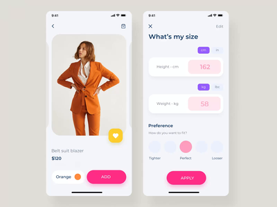 Clother UI mobile KIT IV filters shopping app clothes fashion app mobile ux ui design ui8 motion-design after-effects motion animation