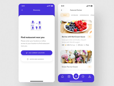 Telow UI Kit II cooking app food ux ui motion-design ui8 after-effects motion animation