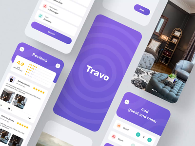 Travo Apps - UI KIT II mobile motiongraphics ux ui design motion-design ui8 after-effects motion animation