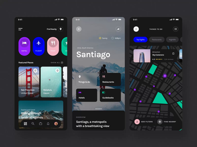 Yle Starter UI Kit I hotels maps travel mobile motiongraphics design ux ui motion-design ui8 after-effects motion animation