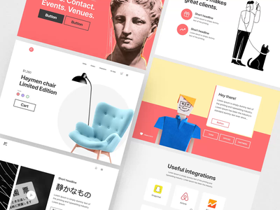 Bright Kit landing page design layout mobile motiongraphics ux ui design motion-design ui8 after-effects motion animation