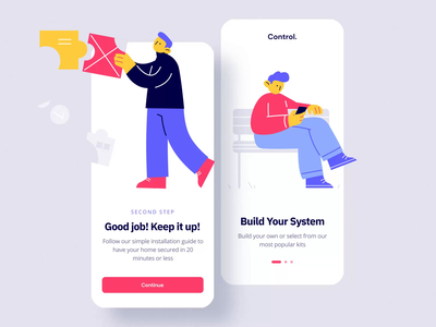 Control Animated V mobile motiongraphics ux ui design motion-design ui8 after-effects motion animation