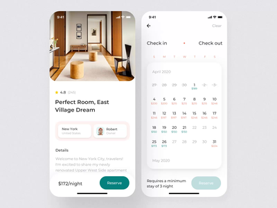 House Booking mobile KIT II booking app booking illustration motiongraphics mobile ux ui design motion-design ui8 after-effects motion animation