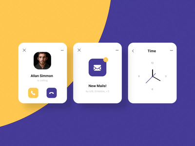 Watch UI Kit after effect animation ui kits kit ui8net ui  ux ui8 clock call mail applewatch watch