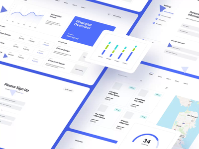 ICE UI KIT II wireframe illustration ux ui design motion-design ui8 after-effects motion animation