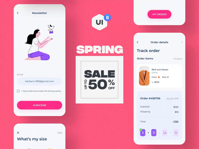 UI8 Spring Sale 2020 Slideshow sales spring sale design ux ui motion-design ui8 after-effects motion animation