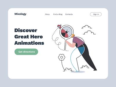 Mixology Animated III ladybug discover svg design ux ui motion-design ui8 after-effects motion animation