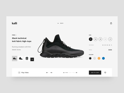 Kalli - Responsive HTML Templates II concepts online store shoes design ux ui motion-design ui8 after-effects motion animation