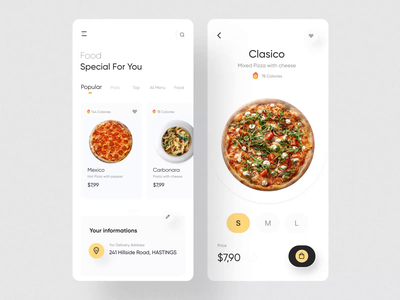 Fode-Food App UI Kit I meals cooking app pizza food delivery design ux ui motion-design ui8 after-effects motion animation