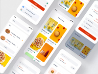 Coody Food iOS UI Kit II food delivery app pizza ux ui motion-design ui8 after-effects motion animation