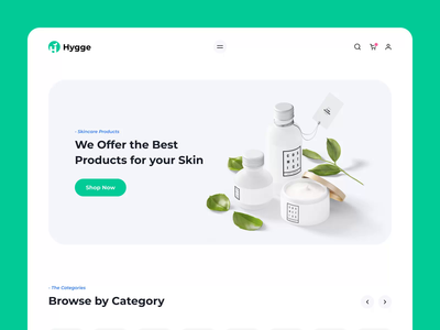 Hygge - eCommerce I template design parfume skincare cosmetics store design typography templates motiongraphics ux ui design motion-design ui8 after-effects motion animation