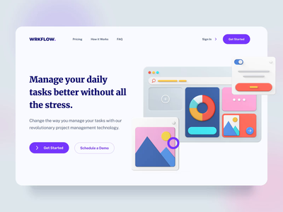 Wrkflow I illustration motiongraphics design ux ui motion-design ui8 after-effects motion animation