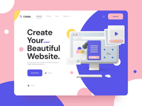 Collab — Landing Page Kit I 3d landing page paralax landingpage motiongraphics ux ui design motion-design ui8 after-effects motion animation