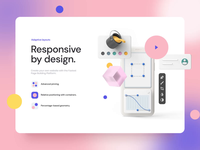 Collab — Landing Page Kit II parallax effect 3d landing page design landing page motiongraphics after-effects motion-design ux ui ui8 motion animation