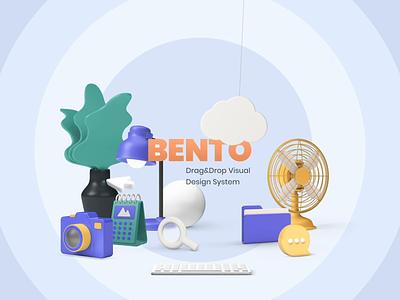 Bento - Playful Hands 🙌 sound hands customization system design kit elements ui  ux 3d ui8 after-effects motion animation