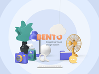 Bento - Playful Hands 🙌 sound hands customization system design kit elements ui  ux 3d ui8 after-effects motion animation