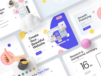 Collab — Landing Page Kit III motiongraphics ux ui design motion-design ui8 after-effects motion animation