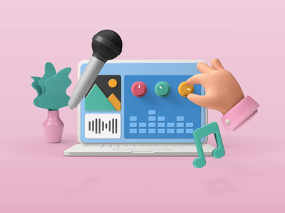 Bento - Sound Mixer illustrations 3d design motion-design ui8 after-effects motion animation