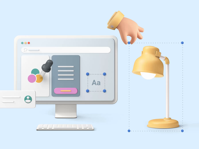 Bento - Lamp Scalable 3d design motion-design ui8 after-effects motion animation