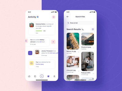 Atlas - File Manager iOS UI Kit mobile file sharing file manager design ux ui motion-design ui8 after-effects motion animation