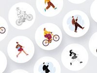 Sapiens - Thousands combinations characters freebies after-effects ui8 motion animation