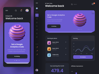 Unity Dashboard - Overview and Products dashboard ux design ui motion-design after-effects ui8 motion animation