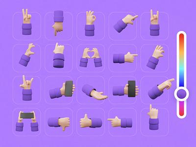 Handy Hands ui8net aftereffects mition 3d animation 3d art hands hand ui8 motion animation