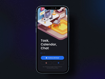 TaskEz: Productivity App iOS UI Kit I task manager motion-design mobile design ux ui iphone12 after-effects ui8 motion animation