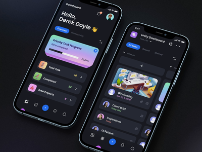 TaskEz: Productivity App iOS UI Kit II design motion-design mobile motiongraphics ux ui after-effects ui8 motion animation