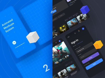 Animated Mockups System Winter Update illustration motiongraphics design motion-design ux ui after-effects ui8 motion animation