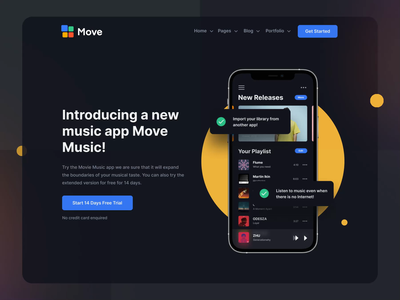 Move - Multipurpose HTML Template I design motion-design ux ui after-effects ui8 motion animation