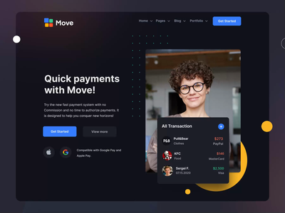 Move - Multipurpose HTML Template II mobile motiongraphics design ux ui motion-design after-effects ui8 motion animation