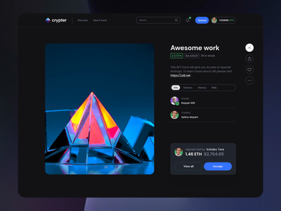 Crypter NFT II typography motiongraphics design motion-design ux ui after-effects ui8 motion animation