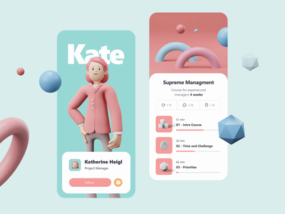 3D Character & Elements Pack character animation blendercycles blender character characterdesign ux ui motion-design after-effects ui8 motion animation