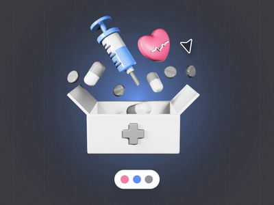 Healthcare 3D Icons medical icons healthcare 3d ui8 motion animation