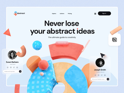 3D Abstract Compositions motion-design ui illustration 3d abstract after-effects ui8 motion animation