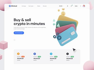 BitCloud - Crypto Exchange UI Kit II animation motion-design ui8 design ui bitcoin crypto