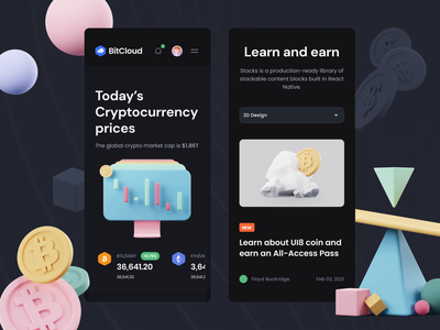 DeFicons - Crypto 3D Icon Set app design ui ui8 after-effects motion animation crypto icons 3d