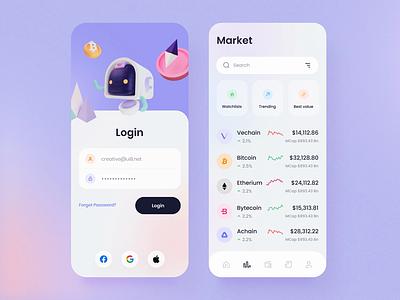 Robot Wallet – Crypto iOS UI Kit currency money ai robot ui8 design ui crypto