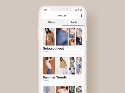 Wish List mobile after effect motiongraphics shop app fashion app design ui ux iphone motion after-effects ui8 animation motion-design black friday