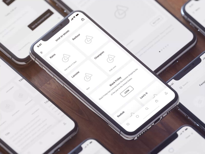 Wireframe System III iphone mockups 3d animation motion motion-design design ui ux after-effects ui8