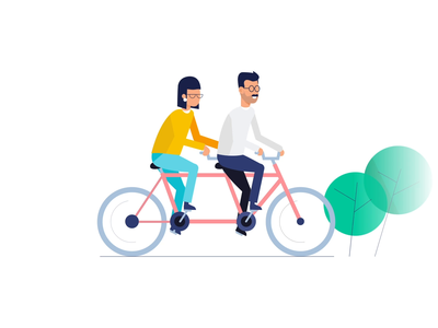 Teamwork & Startup Animations vector animation looped start up teamwork bycicle ui8 svg vector illustration motion-design after-effects motion animation